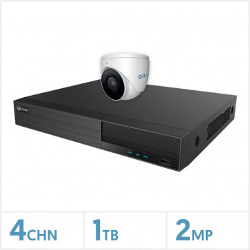 Viper NVR Entry Level Kit - 4 Channel 1TB Recorder with 1 x 2MP Fixed Lens Turret Camera (White)