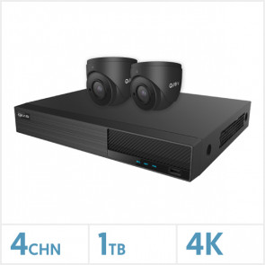Viper NVR Kit - 4 Channel 1TB Recorder with 2 x 4K Fixed Turret Cameras (Grey)