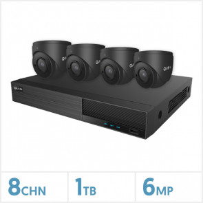 Viper NVR Kit - 8 Channel 1TB Recorder with 4 x 6MP Fixed Turret Cameras (Grey)