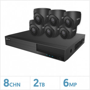 Viper NVR Kit - 8 Channel 2TB Recorder with 6 x 6MP Fixed Turret Cameras (Grey)